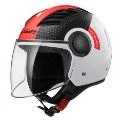 CASCO LS2 OF562 AIRFLOW CONDOR WHITE BLACK RED
