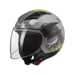 CASCO LS2 OF562 AIRFLOW CAMO NEW MATT TITANIUM YELLOW