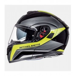 CASCO MT FU401SV ATOM SV FARMAC MATT BLACK GLOSS FLOUR YELLOW