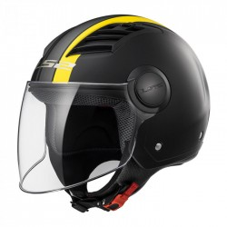 CASCO LS2 OF562 AIRFLOW METROPOLIS NEW MATT BLACK YELLOW
